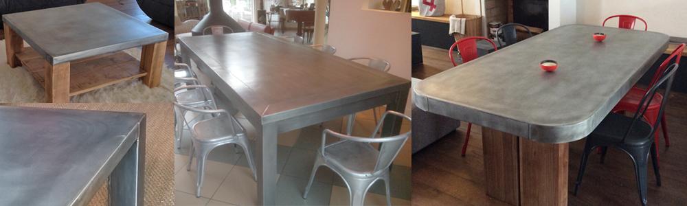 Le mobilier en zinc